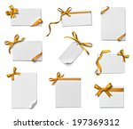 collection of various note card ... | Shutterstock . vector #197369312