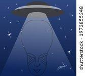 Ufo Vector Illustration On...