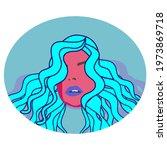 vector illustration of virgo... | Shutterstock .eps vector #1973869718