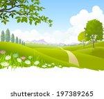 an illustration of heavenly... | Shutterstock .eps vector #197389265