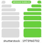 collection of message bubbles...