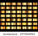 gold colour swatches gold... | Shutterstock .eps vector #1973964965