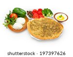 lebanese food of cheese and... | Shutterstock . vector #197397626