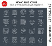 thin line icons set of search... | Shutterstock .eps vector #1974021962