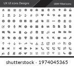 ux ui icon designs   gray color ...