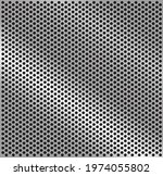 perforated steel texture. gray... | Shutterstock .eps vector #1974055802