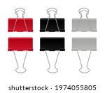 set for color clip or clamp for ... | Shutterstock .eps vector #1974055805