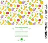 fruit vector background with... | Shutterstock .eps vector #197405966