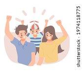 illustration happy family... | Shutterstock .eps vector #1974118775