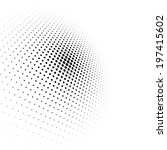 abstract dotted black and white ... | Shutterstock .eps vector #197415602