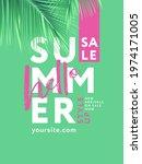 hello summer sale design... | Shutterstock .eps vector #1974171005