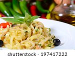 paste fettuccine with seafood | Shutterstock . vector #197417222