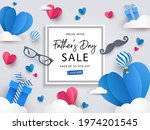 happy father's day sale banner  ... | Shutterstock .eps vector #1974201545