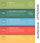 vector infographic timeline... | Shutterstock .eps vector #197425406