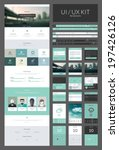 one page website design... | Shutterstock .eps vector #197426126
