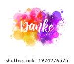 danke   thank you in german....   Shutterstock .eps vector #1974276575