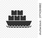 transparent container ship icon ...