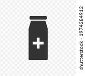 transparent medicine bottle...