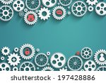 gears with icons inside  add... | Shutterstock .eps vector #197428886