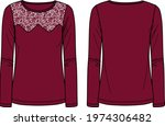 vector long sleeved women t... | Shutterstock .eps vector #1974306482