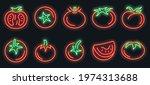 tomato icons set. outline set... | Shutterstock .eps vector #1974313688