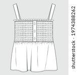 smocked detail top for girls.... | Shutterstock .eps vector #1974388262