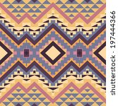 seamless colorful navajo pattern | Shutterstock .eps vector #197444366
