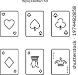 playing cards icon isolated on...