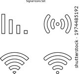 signal icon isolated on white... | Shutterstock .eps vector #1974485192