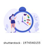 woman standing food intake... | Shutterstock .eps vector #1974540155