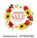 summer sale background with... | Shutterstock .eps vector #1974569582