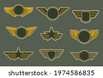 army patches with wings ... | Shutterstock .eps vector #1974586835