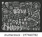 doodle baby background | Shutterstock .eps vector #197460782