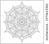 mandala circle pattern....   Shutterstock .eps vector #1974615302