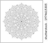 mandala circle pattern....   Shutterstock .eps vector #1974615305