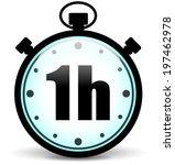vector illustration of one hour ... | Shutterstock .eps vector #197462978