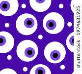 Seamless Baby Pattern With Eye. ...