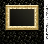 vector picture frame on wall ... | Shutterstock .eps vector #197463878