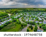 Aerial View Roofs Of The Near A ...