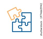 trendy thin line corporate blue ... | Shutterstock .eps vector #1974665942