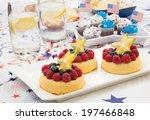tray of fresh angel food fruit... | Shutterstock . vector #197466848