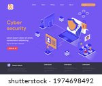 cyber security isometric...