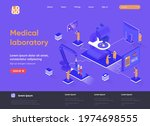medical laboratory isometric...