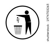 trash bin or trash can with... | Shutterstock .eps vector #1974703265