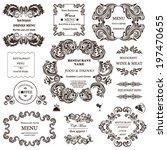 vector set  calligraphic design ... | Shutterstock .eps vector #197470655