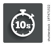 timer 10 seconds sign icon....