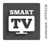 widescreen smart tv sign icon....