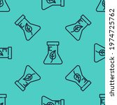 black line test tube and flask... | Shutterstock .eps vector #1974725762