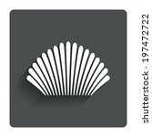 sea shell sign icon. conch... | Shutterstock .eps vector #197472722