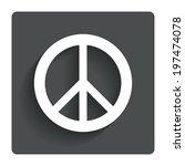 peace sign icon. hope symbol....